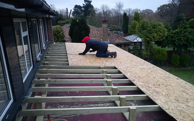 Flat Felt Roof From Harris Whitehorn Throughout The New Forest